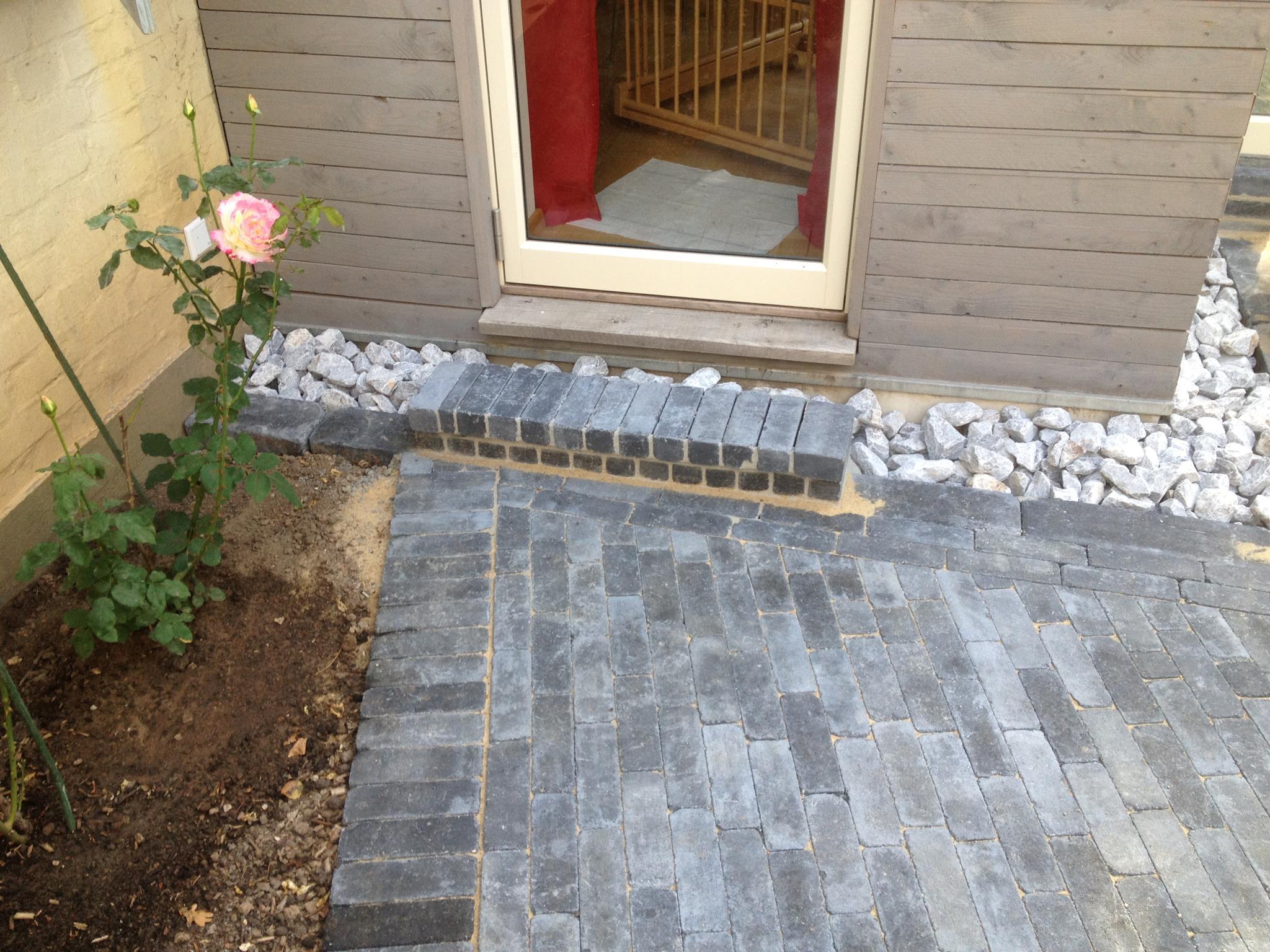 Terrasse Gepflastert Gartenpflege Hollmann